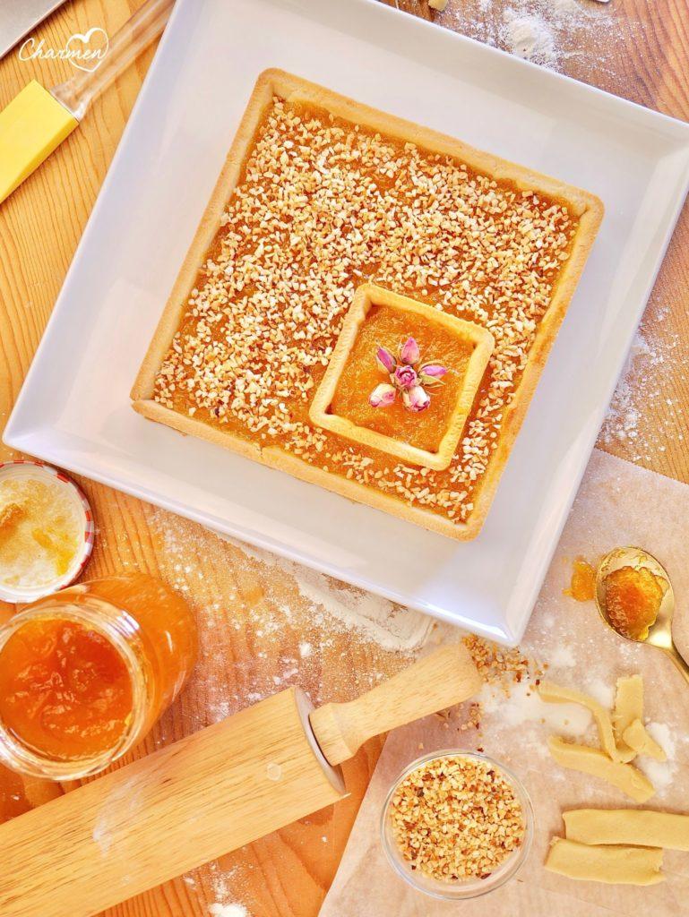 crostata mango e nocciole