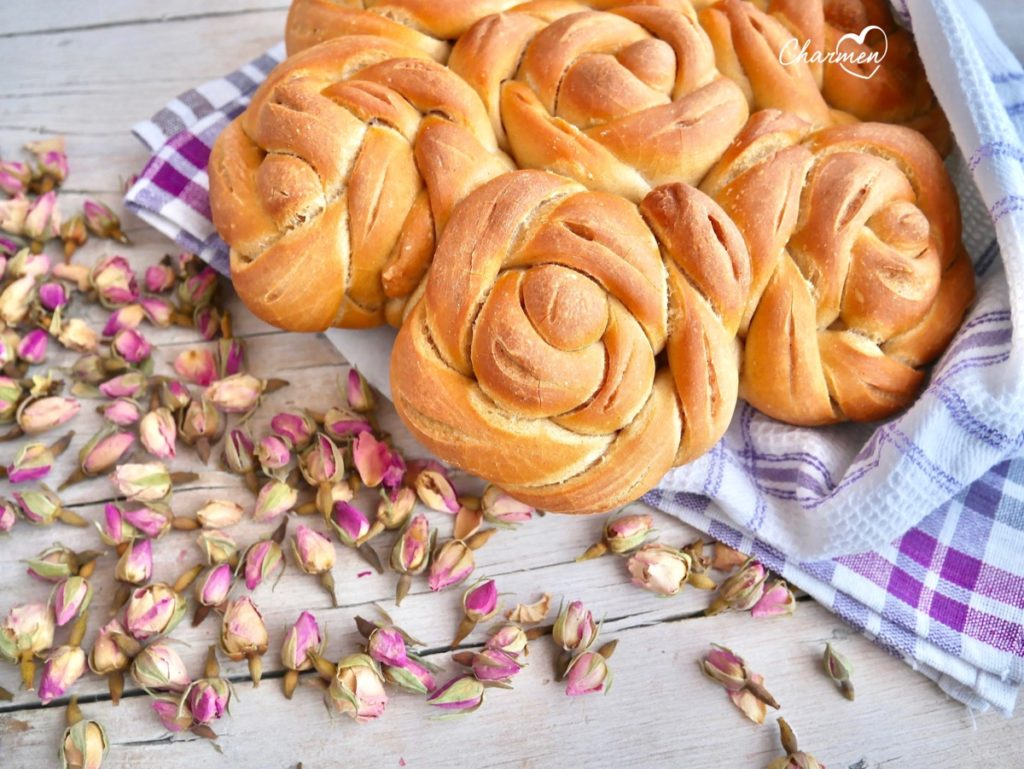 Pane Corona di rose