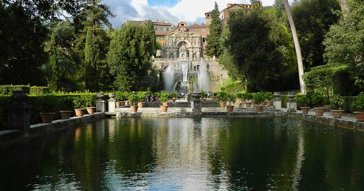 Villa d'Este Tivoli veduta dalle vasche