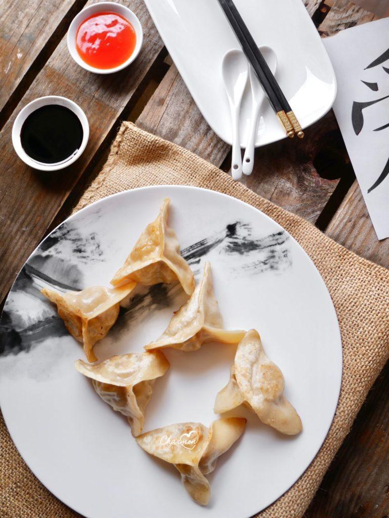 ravioli cinesi alla piastra