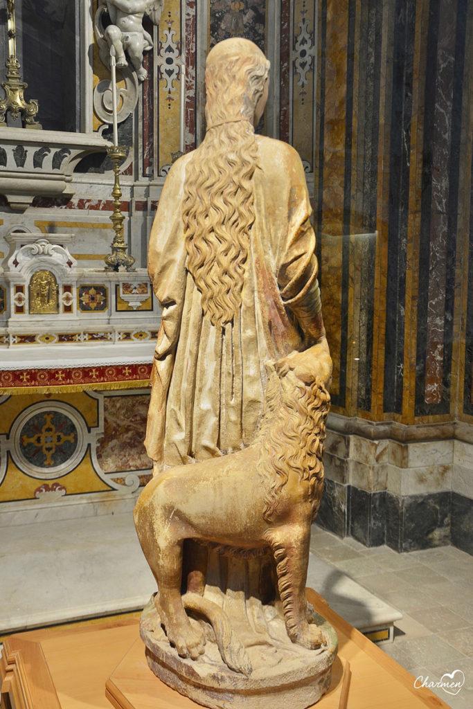 Santa Eufemia, scultura attribuita a Mantegna