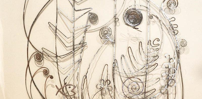 Peggy Guggenheim Collection, Alexander Calder, Testiera di letto in argento