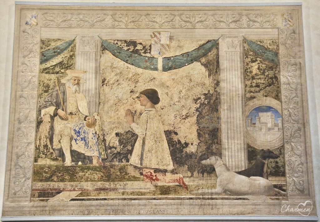 Tempio Malatestiano Affresco di Piero della Francesca