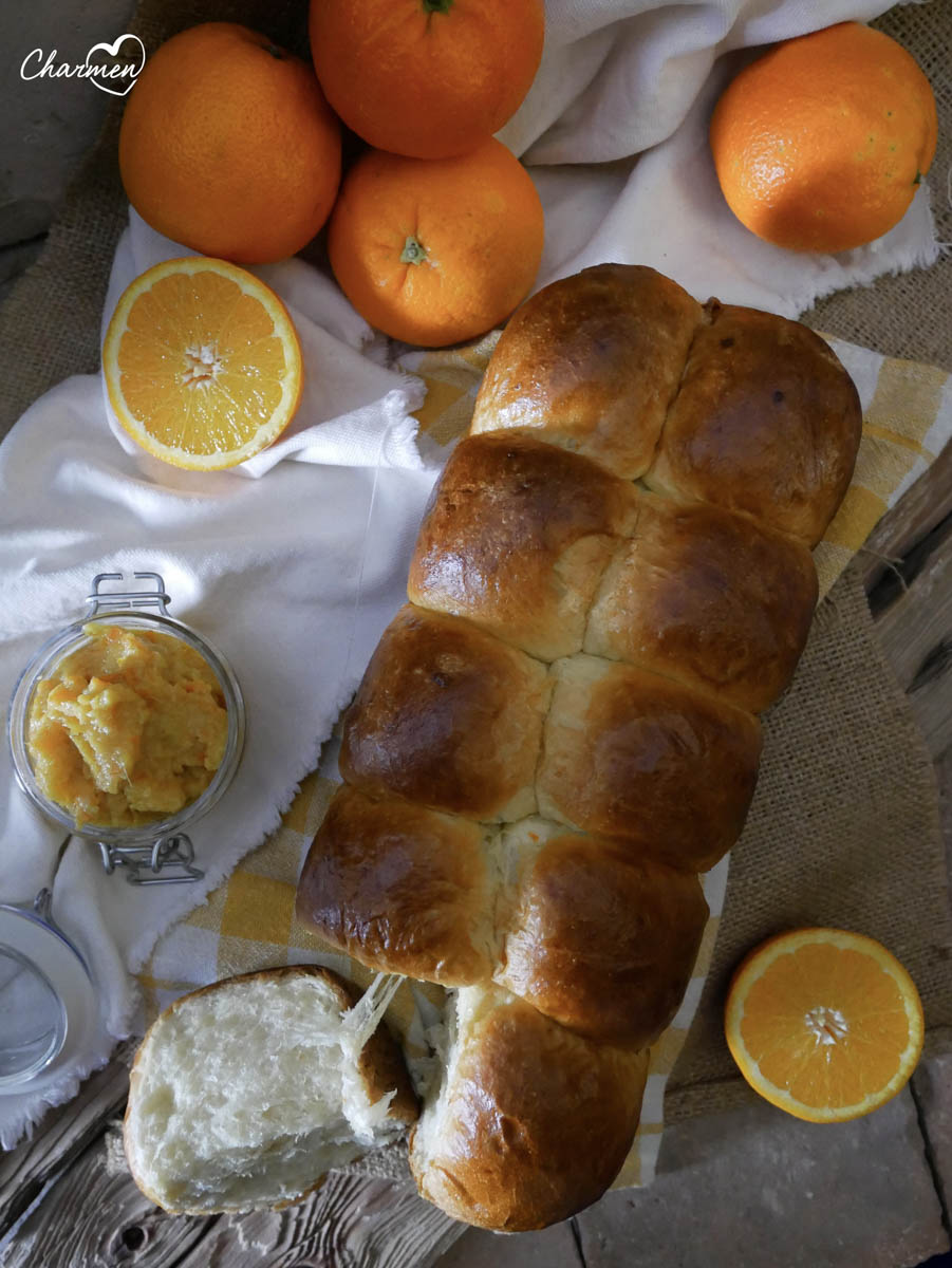 Pan brioche all'arancia
