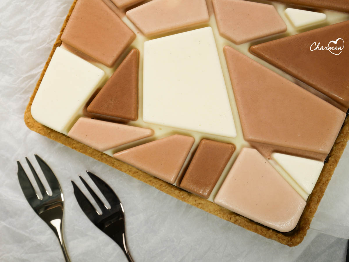 Modern tarte al cocco e cioccolato