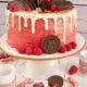 Drip cake cacao e lamponi