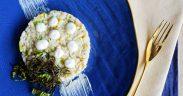Risotto ai fiori di zucca e crema di pecorino